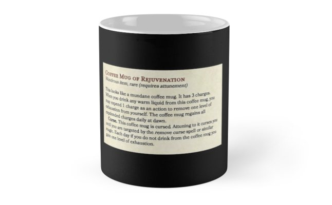 Coffee Mug of Rejuvenation | Magic Item for Dungeons & Dragons Fifth Edition (and holiday special!)