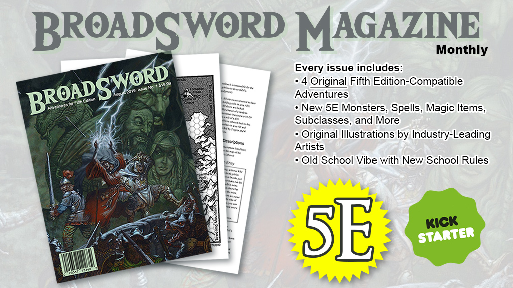 Broadsword Magazine Kickstarter Page Up for Preview