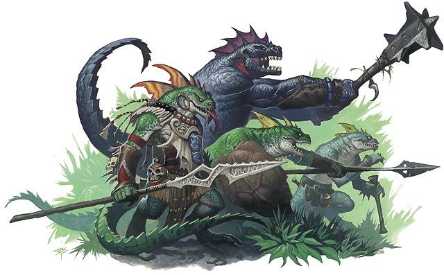 Lizardfolk Warriors   Scalable Monsters for Fifth Edition