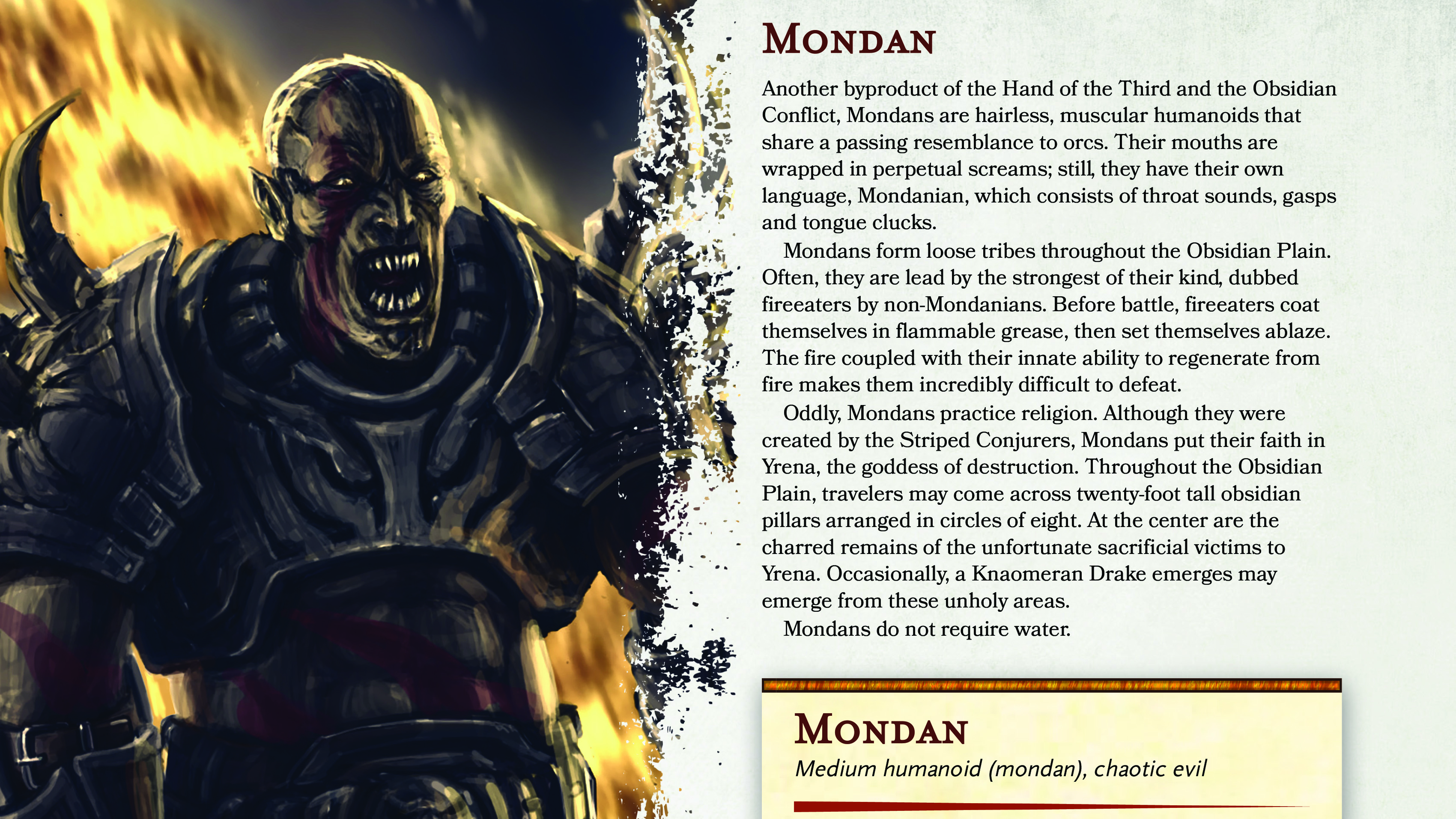 Mondan   New Monster for Fifth Edition