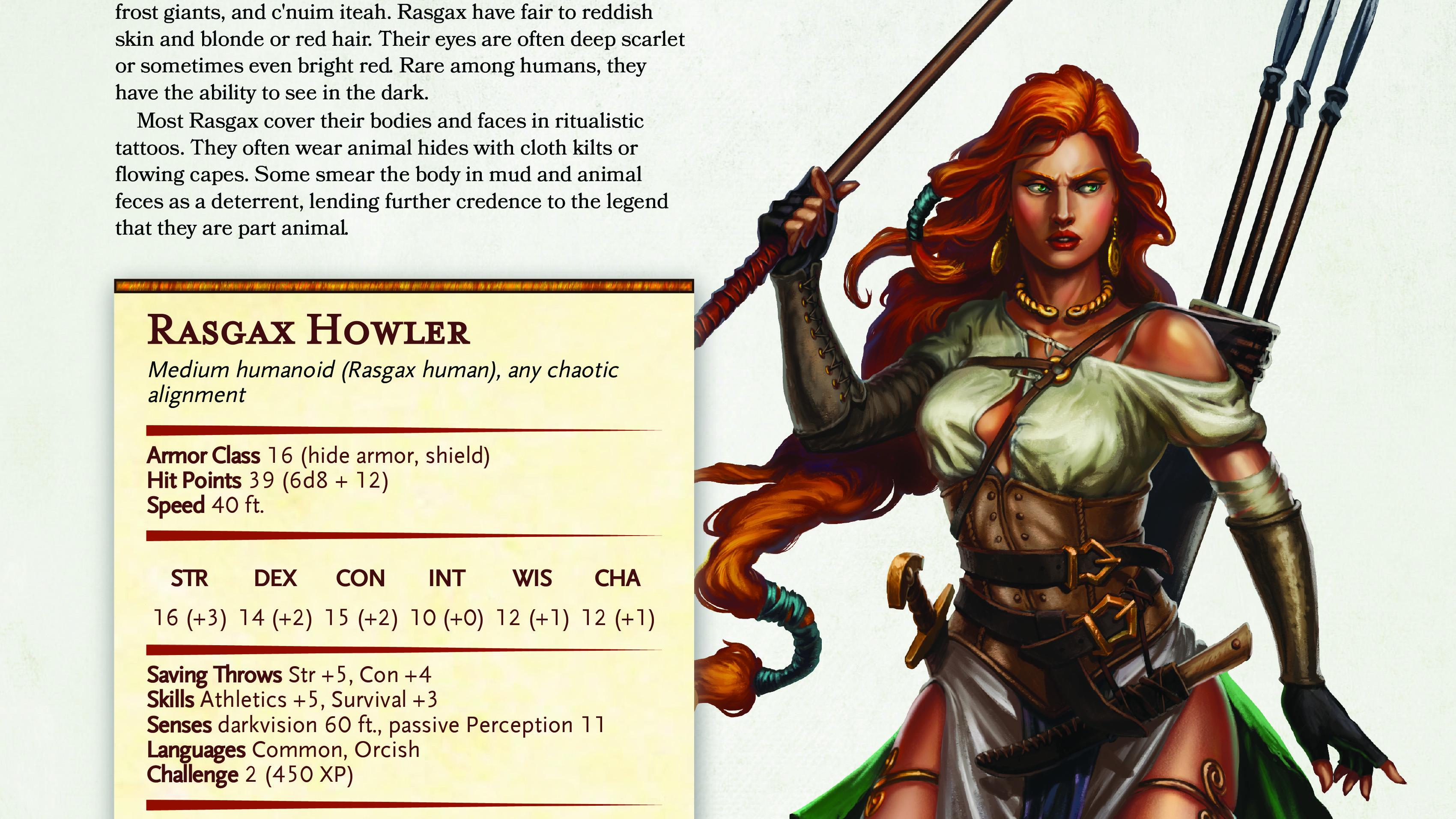 Rasgax Howler   New NPC for Fifth Edition